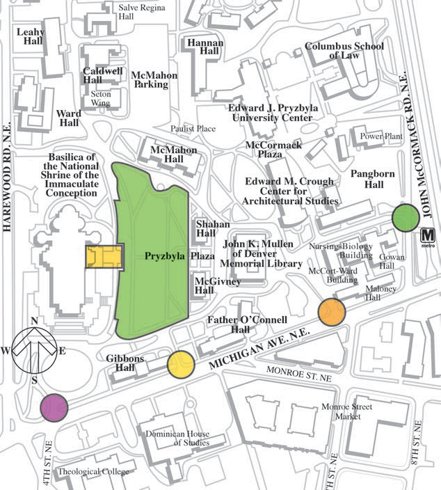 Map of Papal Mass Venue