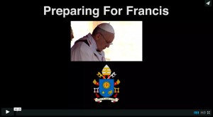 Preparing for Francis splash