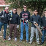 CUA students volunteer with senios at Carroll Manor and the Schrilli School in Northeast as part of the Martin Luther King Day of Service. In Washington , D.C.