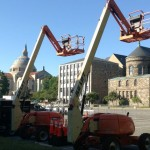 Construction for Papal Visit
