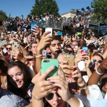 Thousands of Students Gathered to Receive the Pope