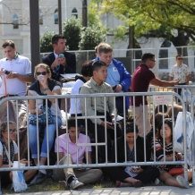 CUA Community waiting for the Pope