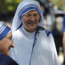 Missionaries of Charity Gathered for the Papal Mass