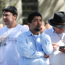 Hispanic Community Present at the Papal Mass