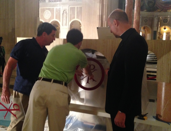 Papal Altar Receives Transformation in National Shrine