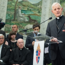 Cardinal Wuerl responds to a question from the media