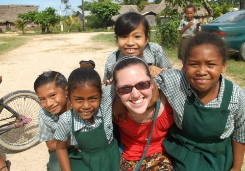 Mary Lastowka went to Belize on a mission trip with CUA's Office of Campus Ministry.