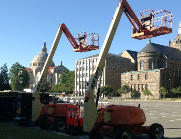 Construction Begins on Campus for Papal Visit