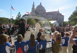 Meg Ross Saw the Pope Last Semester in Rome then on Our Own Campus