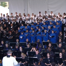 The orchestra and choir filled the CUA campus with music for the papal Mass.