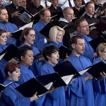 Singers rejoice in the Lord in the papal choir.