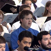 Voices from CUA, the Basilica, and the Archdiocese blended in the papal choir.