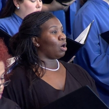 Singers from CUA, the Basilica, and the Archdiocese of Washington made up the papal choir.