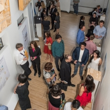 Judges and design teams in CUA's Crough Center for Architectural Studies