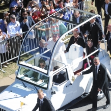 Pope Francis Greeting the Crowd