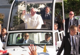 Pope Francis Has Arrived at Catholic University
