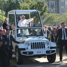 Pope Francis and the Popemobile