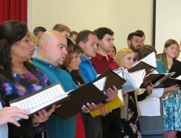 University Musicians Rehearse for Papal Mass