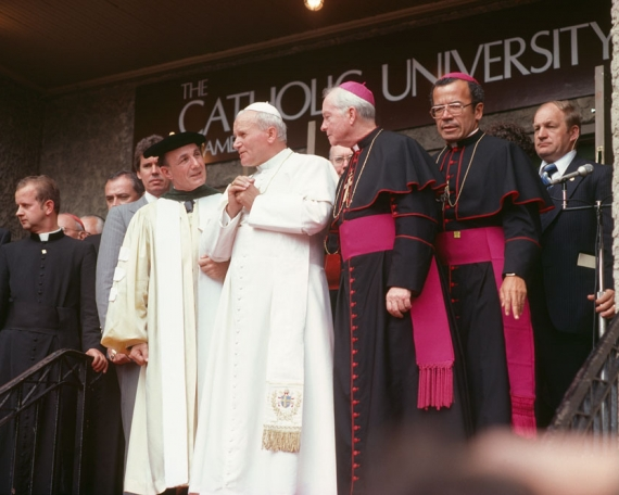 Image result for john paul ii and university students