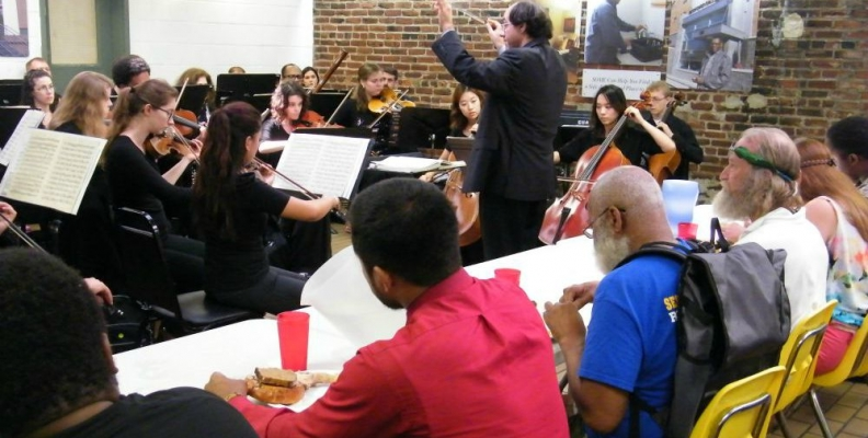 CUA Orchestra Members Perform at So Others Might Eat